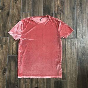 ASOS pink velvet top dress size 3XL tshirt dress